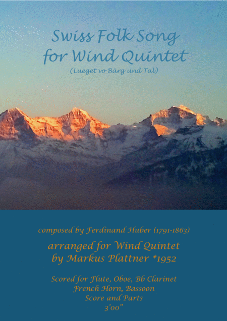 Swiss Folk Song for Wind Quintet
