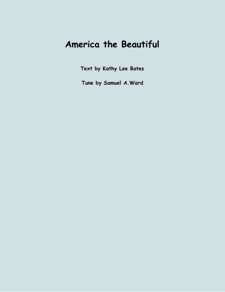 America the Beautiful (two violins and cello)