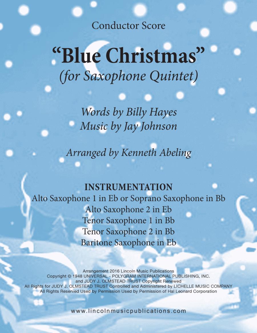Christmas - Blue Christmas (for Saxophone Quintet SATTB or AATTB)