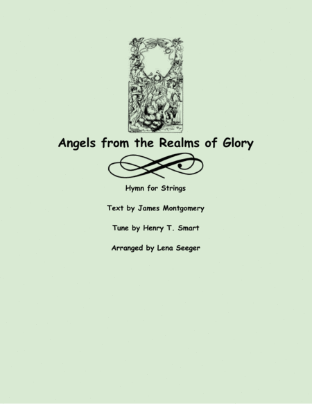 Angels from the Realms of Glory (violins and cello)