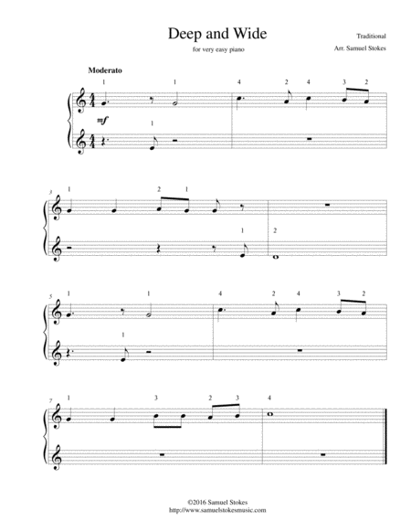 Deep and Wide - for very easy piano