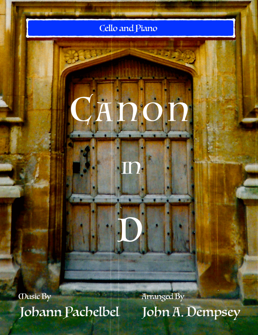 Canon in D (Cello and Piano)