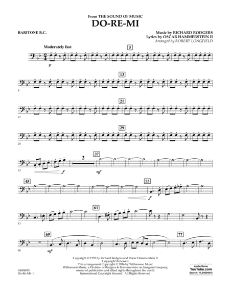 Do-Re-Mi (from The Sound of Music) - Baritone B.C.