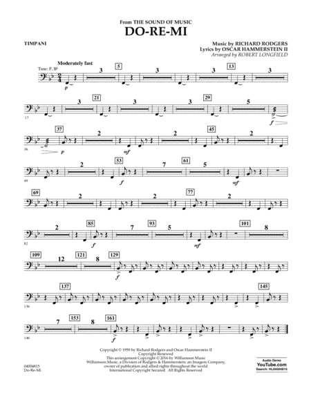 Do-Re-Mi (from The Sound of Music) - Timpani