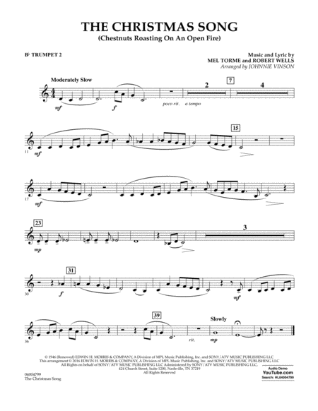 The Christmas Song (Chestnuts Roasting on an Open Fire) - Bb Trumpet 2