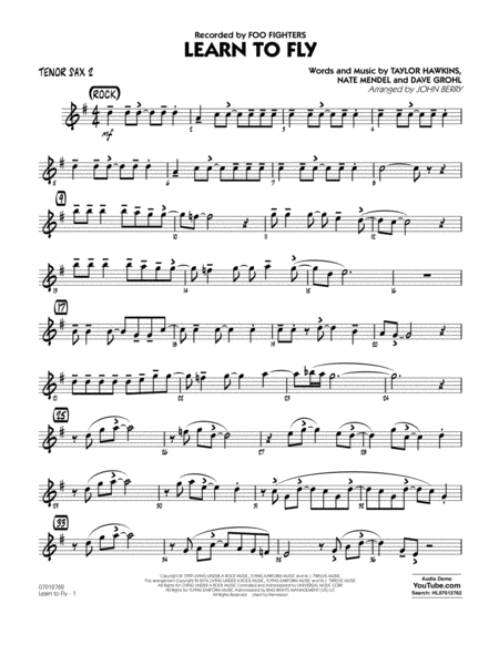 Learn to Fly - Tenor Sax 2