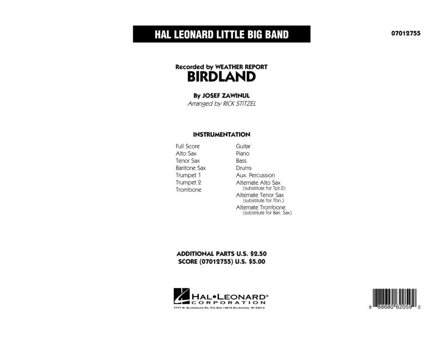 Birdland - Full Score
