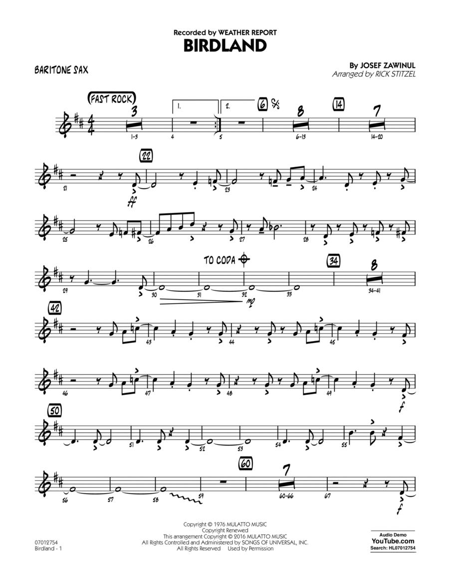 Birdland - Baritone Sax
