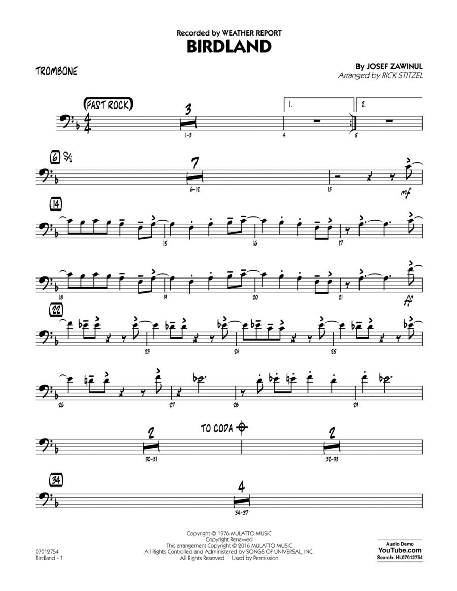 Birdland - Trombone