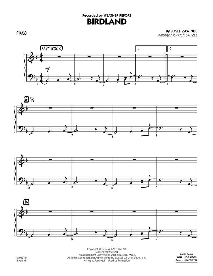 Birdland - Piano