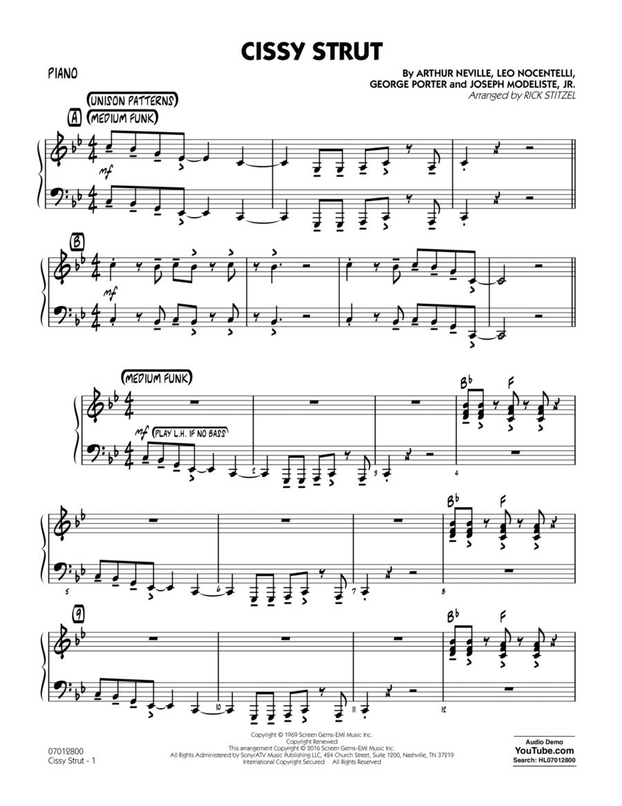 Cissy Strut - Piano