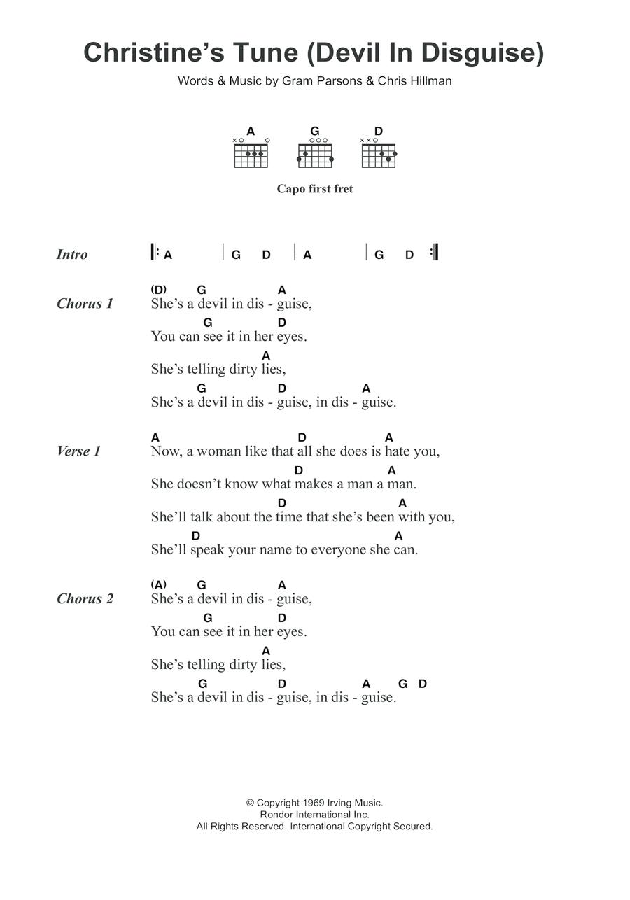 Christine's Tune (Devil In Disguise)