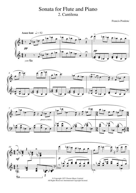 Sonata For Flute, 2nd Movement 'Cantilena: Assez Lent'