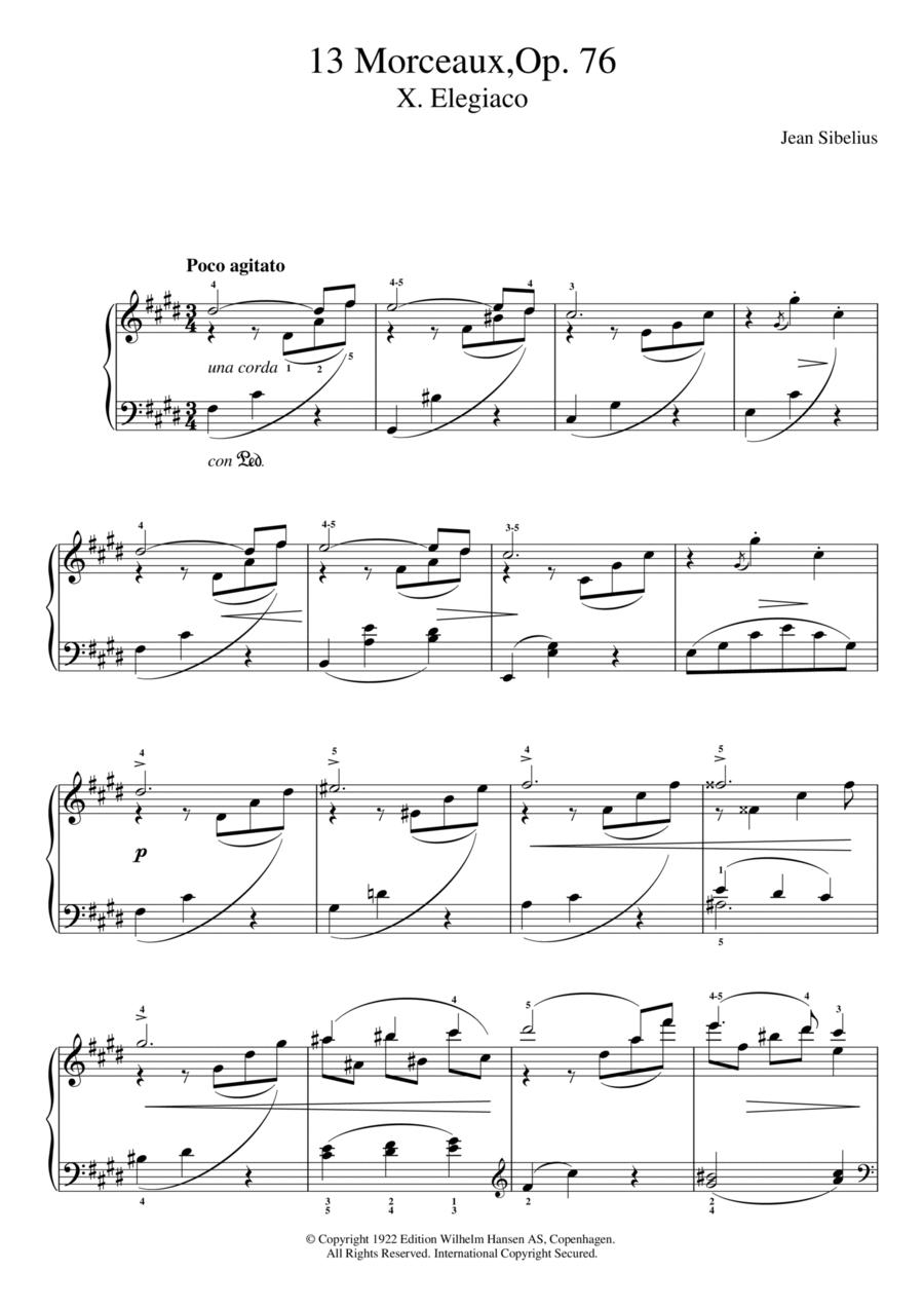 13 Morceaux, Op.76 - X. Elegiaco