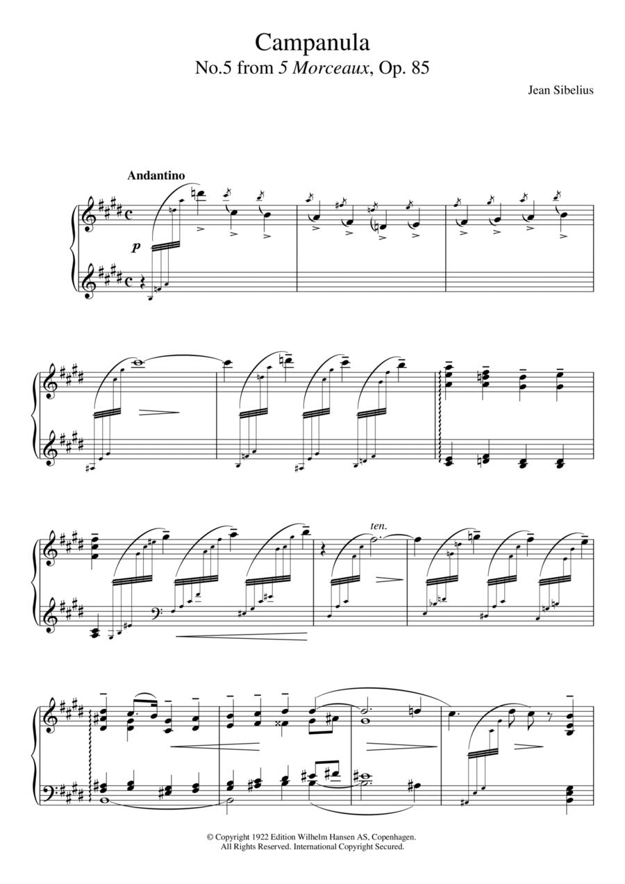5 Morceaux, Op.85 - V. Campanula