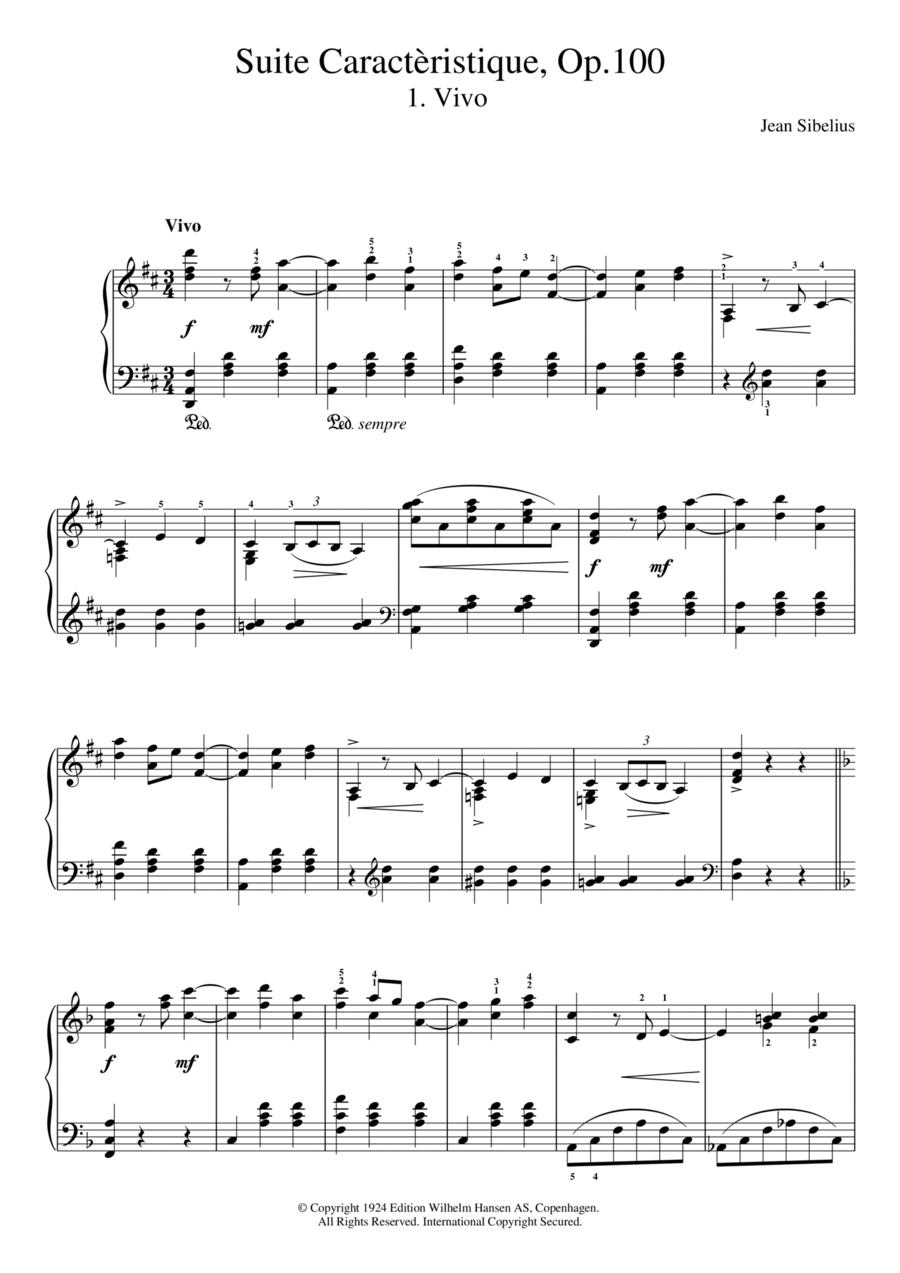 Suite Caracteristique, Op.100 - I. Vivo