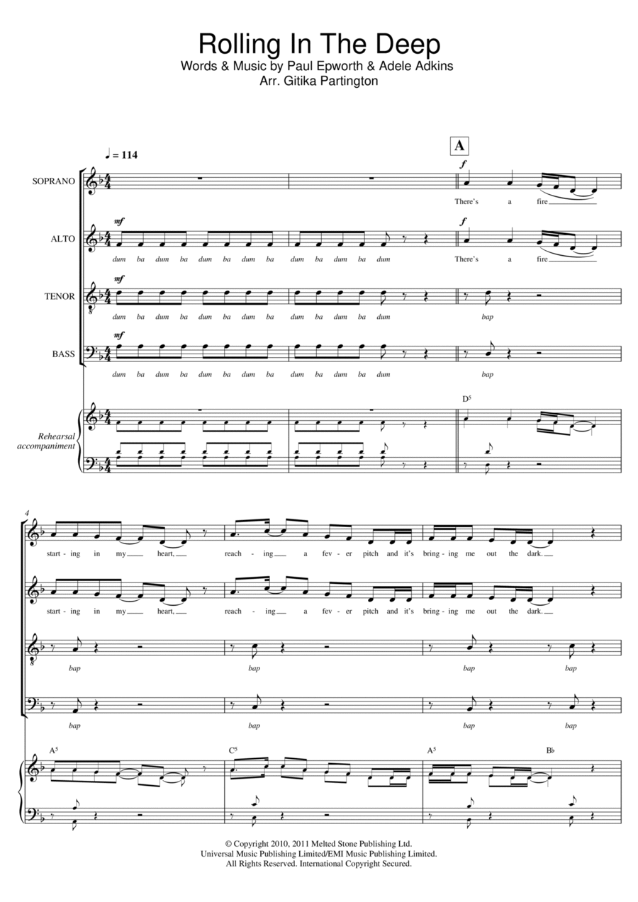 Rolling In The Deep (Arr. Gitika Partington)