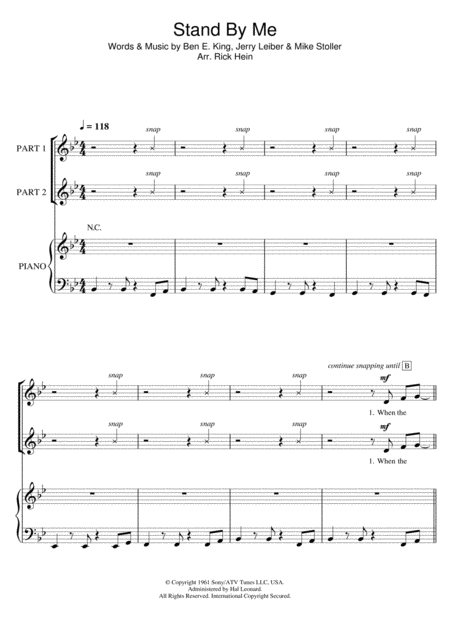 Stand By Me (arr. Rick Hein)