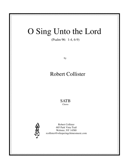 O Sing Unto the Lord  (from Psalm 96)