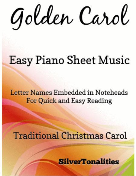 Golden Carol Easy Piano Sheet Music