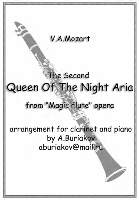 The Second Queen Of The Night Aria (clarinet or soprano saxophone, original pitch)
