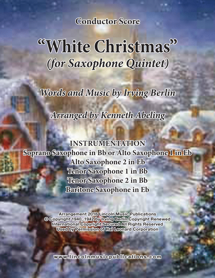 Christmas - White Christmas (for Saxophone Quintet SATTB or AATTB)
