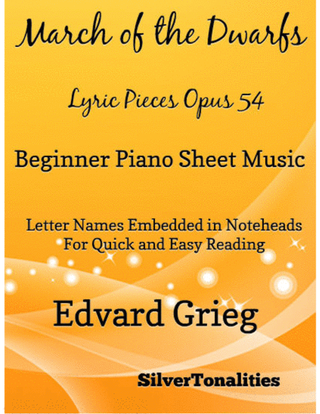March of the Dwarfs Beginner Piano Sheet Music