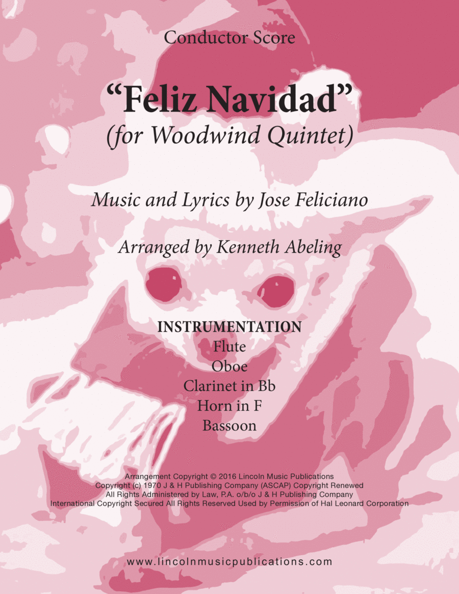 Christmas - Feliz Navidad (for Woodwind Quintet)