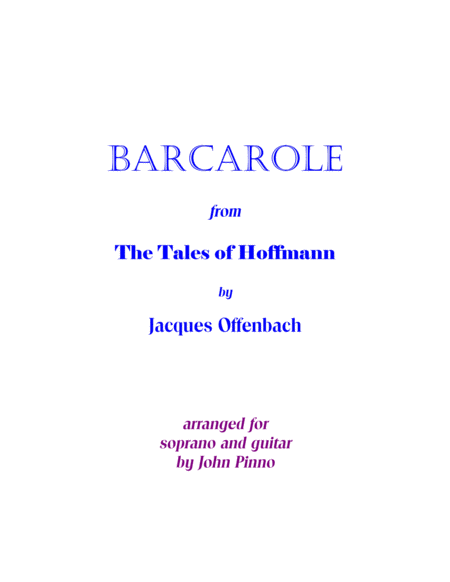 Barcarole (The Tales of Hoffmann) for voice and classical guitar