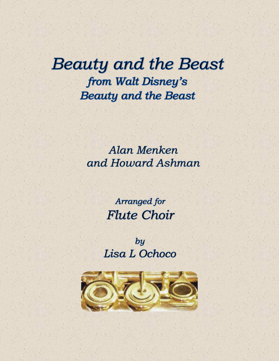 Beauty And The Beast from Walt Disney's Beauty and the Beast for Flute Choir