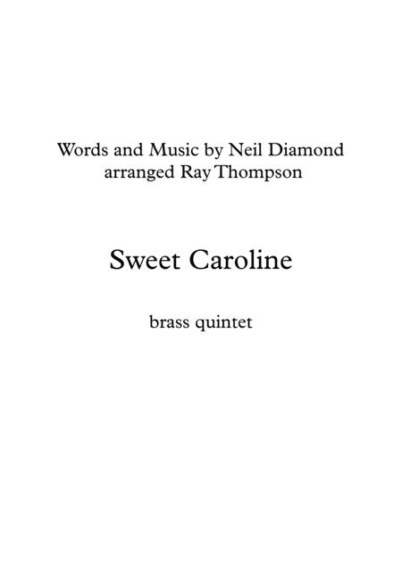 Neil Diamond: Sweet Caroline - brass quintet