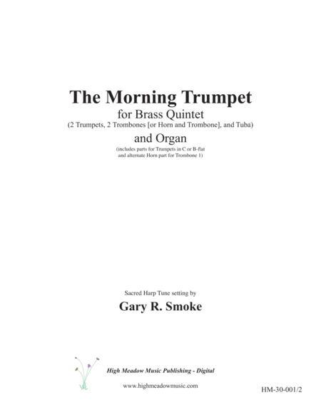 The Morning Trumpet for Brass Quintet and Organ
