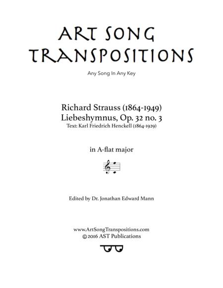 Liebeshymnus, Op. 32 no. 3 (A-flat major)