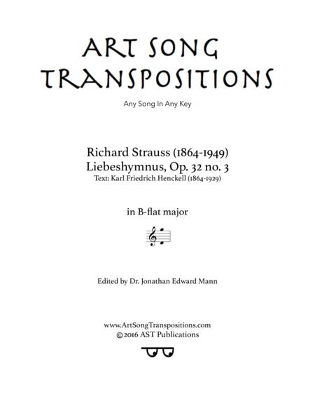 Liebeshymnus, Op. 32 no. 3 (B-flat major)