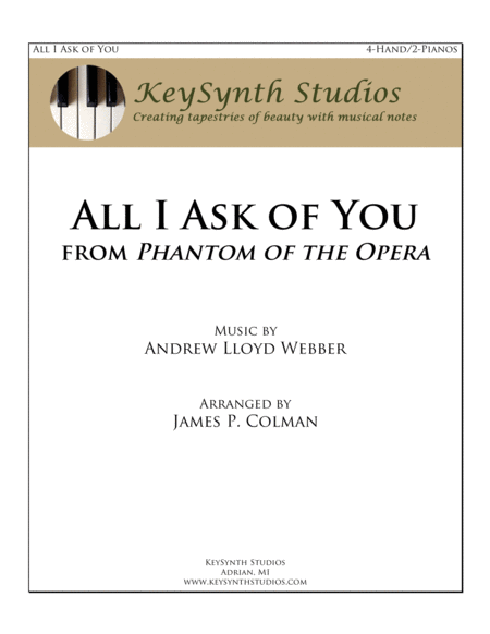 All I Ask Of You (from Phantom of the Opera)