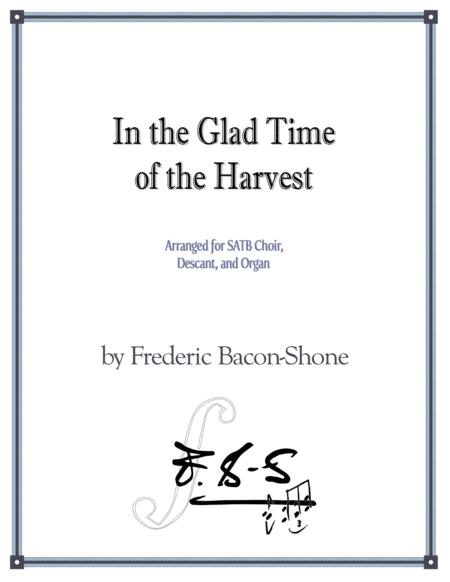 In the Glad Time of the Harvest