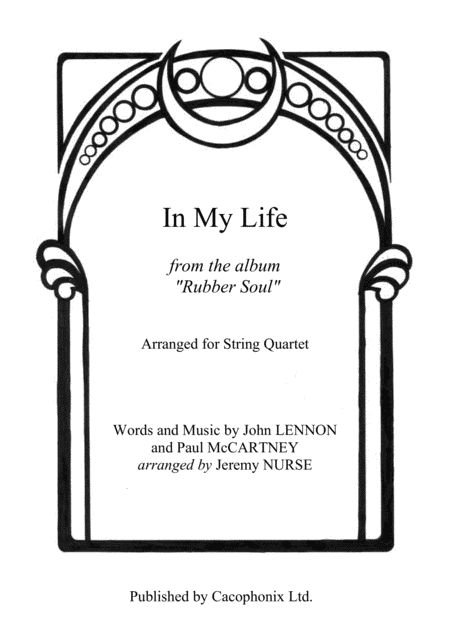 In My Life (String Quartet)