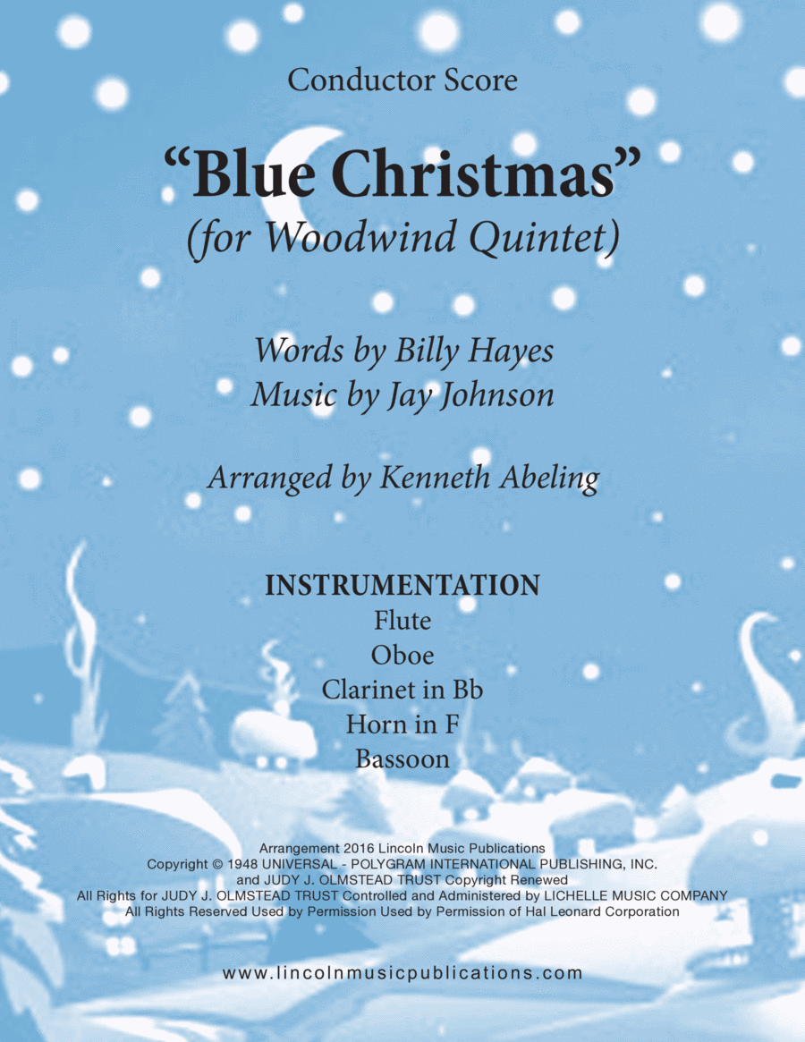 Christmas - Blue Christmas (for Woodwind Quintet)