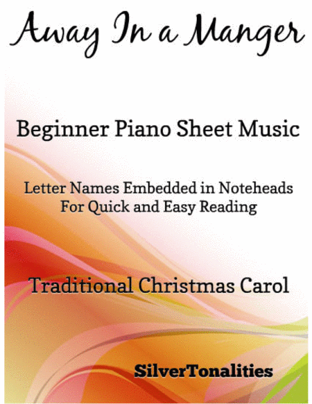 Away in a Manger Beginner Piano Sheet Music