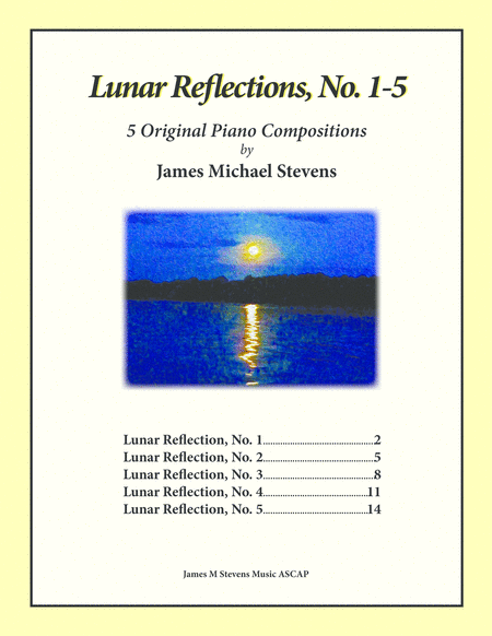 Lunar Reflections, No. 1-5 Piano Book