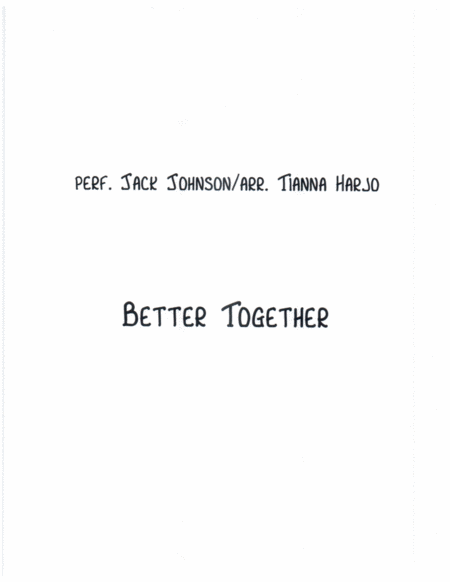 Better Together - String Trio (vn, va, c)