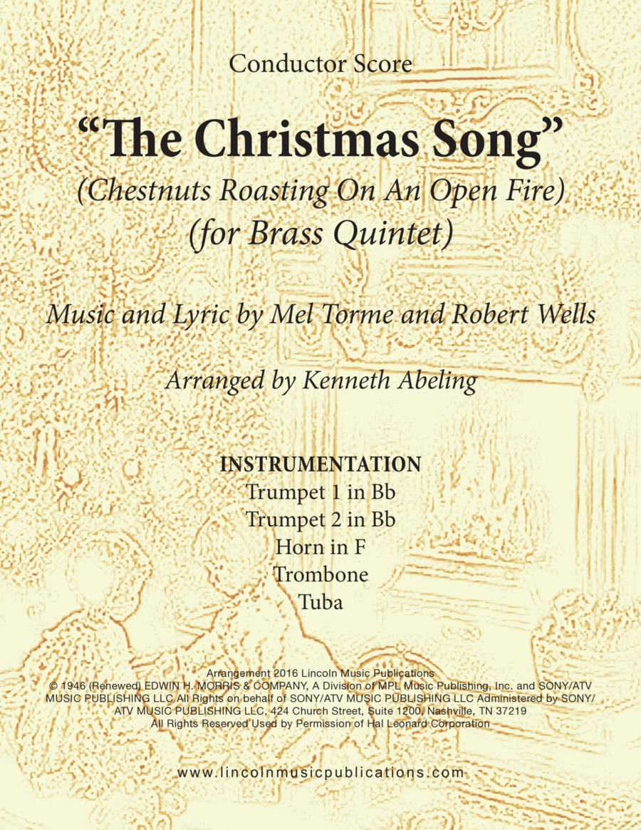 The Christmas Song (Chestnuts Roasting On An Open Fire) (for Brass Quintet)