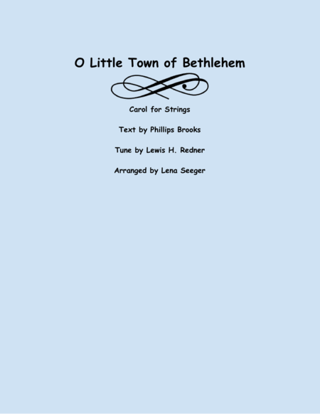 O Little Town of Bethlehem (two violins and cello)