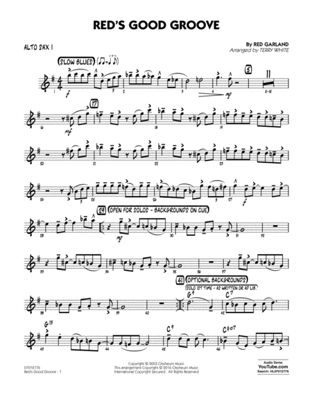 Red's Good Groove - Alto Sax 1