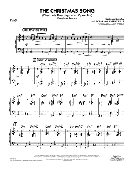 The Christmas Song (Chestnuts Roasting on an Open Fire) - Piano