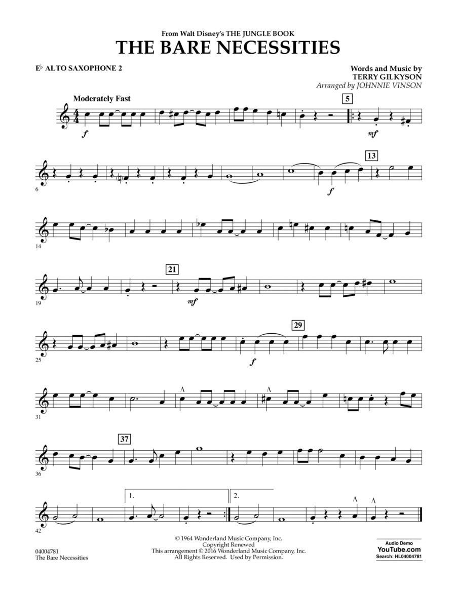The Bare Necessities - Eb Alto Saxophone 2
