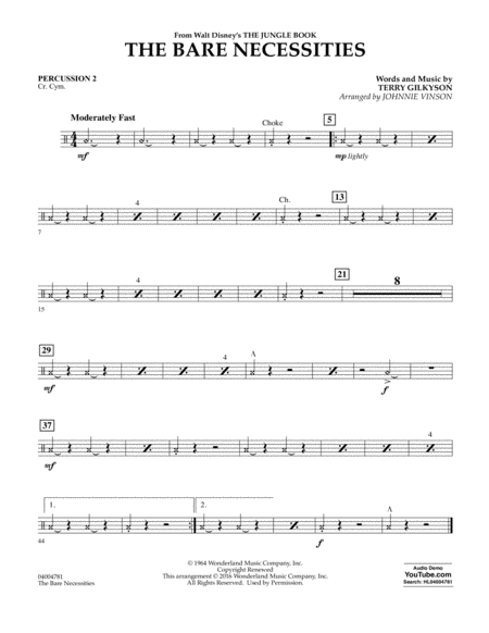 The Bare Necessities - Percussion 2