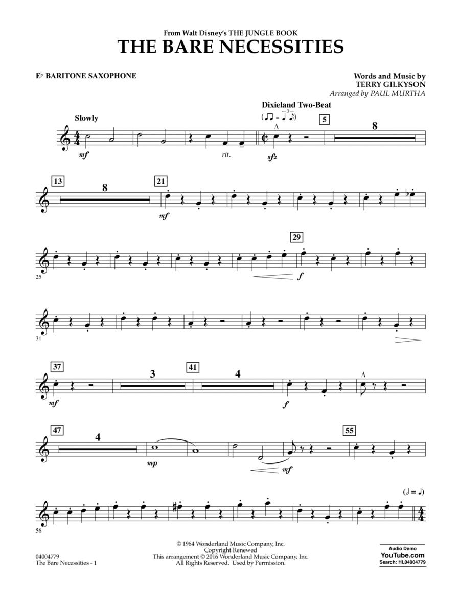 The Bare Necessities - Eb Baritone Saxophone