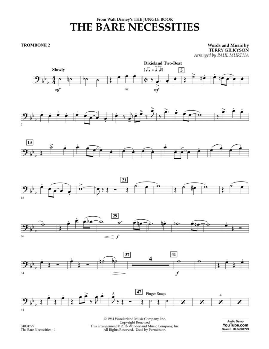 The Bare Necessities - Trombone 2