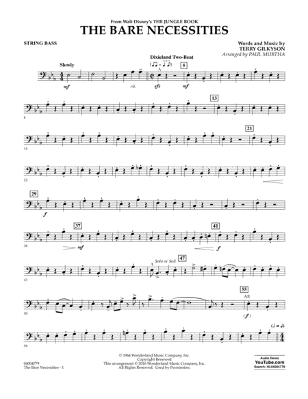 The Bare Necessities - String Bass